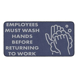 Employees Hand Wash Durable Rug - Rectangle (3' W x 6' L)
