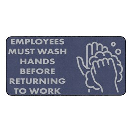 Employees Hand Wash Durable Rug - Rectangle (3\' W x 6\' L)