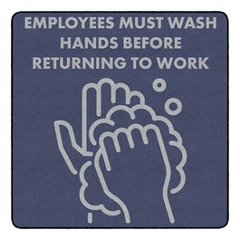 Employees Hand Wash Durable Rug - Square (6\' W x 6\' L)