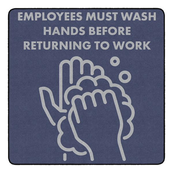 Employees Hand Wash Durable Rug - Square (6' W x 6' L)