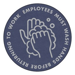 Employees Hand Wash Durable Rug - Round