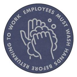 Employees Hand Wash Durable Rug - Round (6\' Diameter)