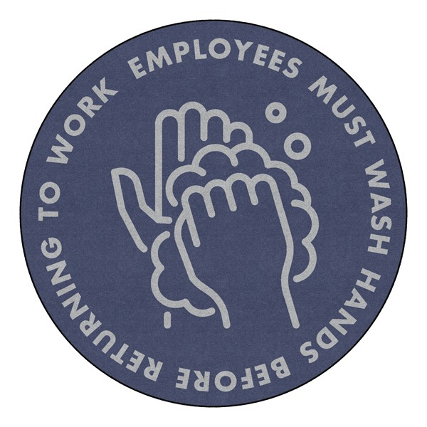 Employees Hand Wash Durable Rug - Round (6' Diameter)