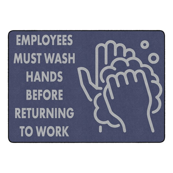 """Employees Hand Wash Durable Rug - Rectangle (6' W x 8' 4"""" L)"""