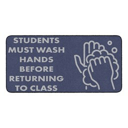 Students Hand Wash Durable Rug - Rectangle