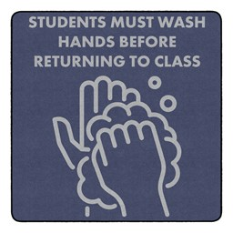 Students Hand Wash Durable Rug - Square