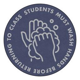 Students Hand Wash Durable Rug - Round