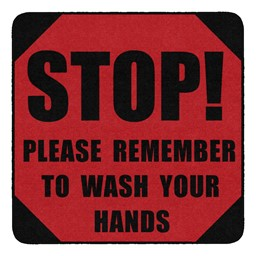 Please Remember to Wash Your Hands Durable Rug - Square