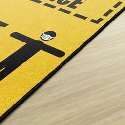 Keep a Safe Distance Durable Rug - Edge