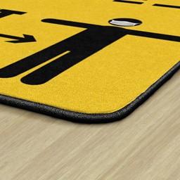 Keep a Safe Distance Durable Rug - Corner