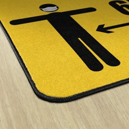 Keep a Safe Distance Durable Rug