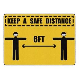 Keep a Safe Distance Durable Rug - Rectangle