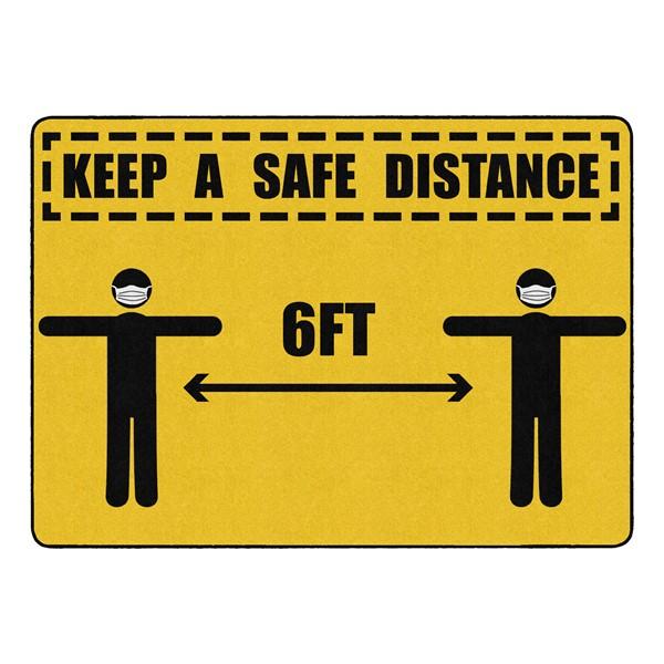 "Keep a Safe Distance Durable Rug - Rectangle (6' W x 8' 4"" L)"