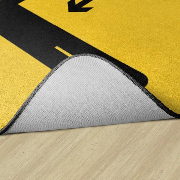Keep a Safe Distance Durable Rug - Backing