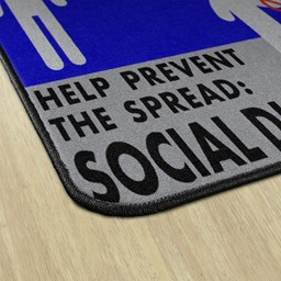 Help Prevent the Spread Durable Rug - Square