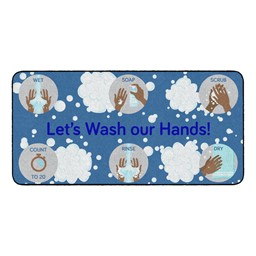 Let's Wash Our Hands! Durable Rug - Rectangle