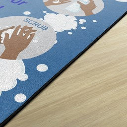 Let's Wash Our Hands! Durable Rug - Edge
