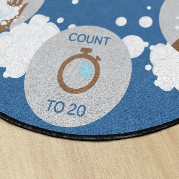 Let's Wash Our Hands! Durable Rug - Round