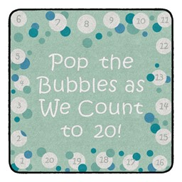 Pop The Bubbles Durable Rug - Square - Contemporary