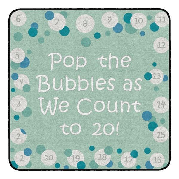 Pop The Bubbles Durable Rug - Square (4' W x 4' L) - Contemporary