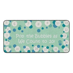 Pop The Bubbles Durable Rug - Rectangle - Contemporary