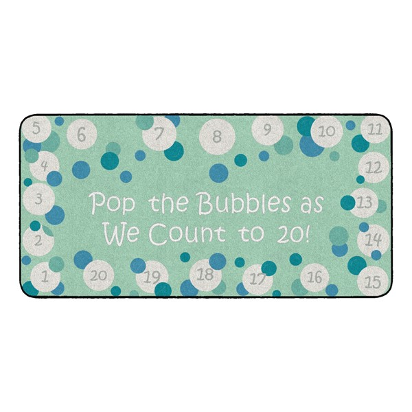 Pop The Bubbles Durable Rug - Rectangle (3' W x 6' L) - Contemporary