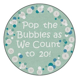 Pop The Bubbles Durable Rug - Round (6\' Diameter) - Contemporary