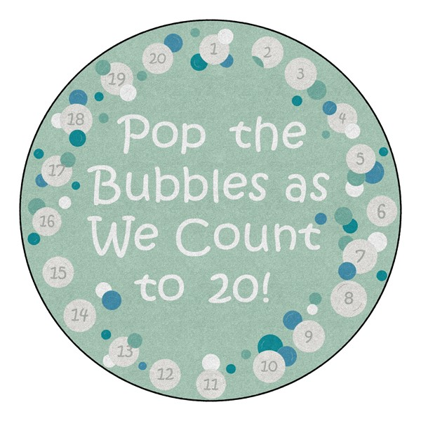 Pop The Bubbles Durable Rug - Round (6' Diameter) - Contemporary