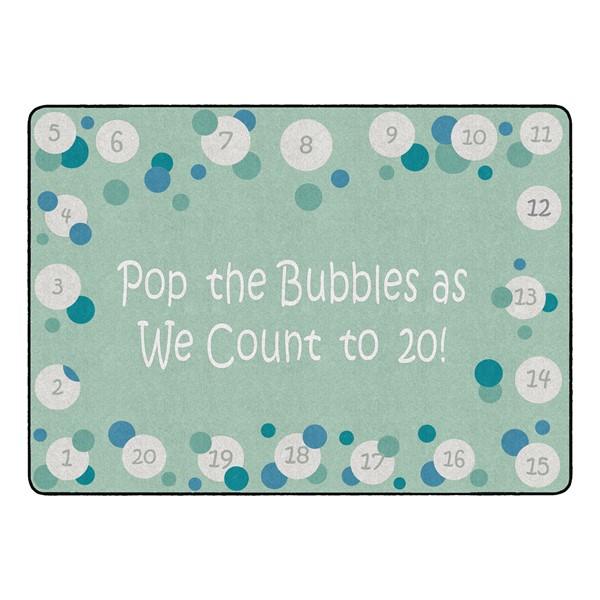 "Pop The Bubbles Durable Rug - Rectangle (6' W x 8' 4"" L) - Contemporary"