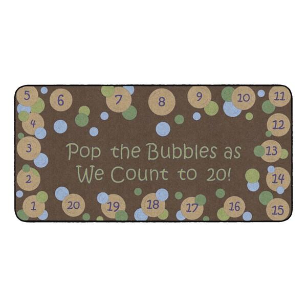 Pop The Bubbles Durable Rug - Rectangle (3' W x 6' L) - Earthtone
