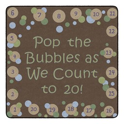 Pop The Bubbles Durable Rug - Square (6' W x 6' L) - Earthtone