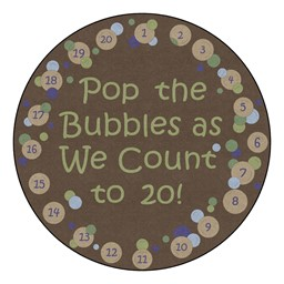 Pop The Bubbles Durable Rug - Round (6' Diameter) - Earthtone