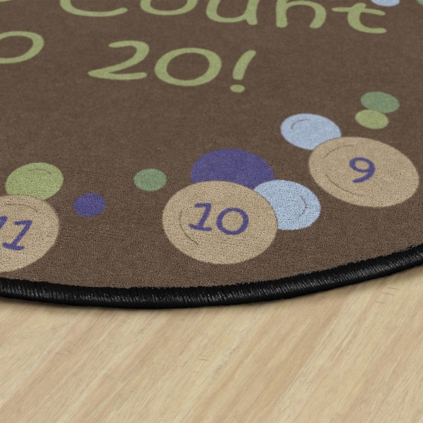 Pop The Bubbles Durable Rug - Edge
