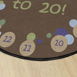 Pop The Bubbles Durable Rug - Round