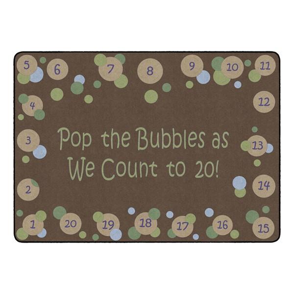 "Pop The Bubbles Durable Rug - Rectangle (6' W x 8' 4"" L) - Earthtone"