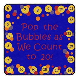 Pop The Bubbles Durable Rug - Square (4\' W x 4\' L) - Primary