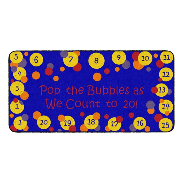 Pop The Bubbles Durable Rug - Rectangle (3' W x 6' L) - Primary