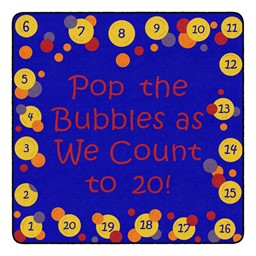 Pop The Bubbles Durable Rug - Square (6' W x 6' L) - Primary