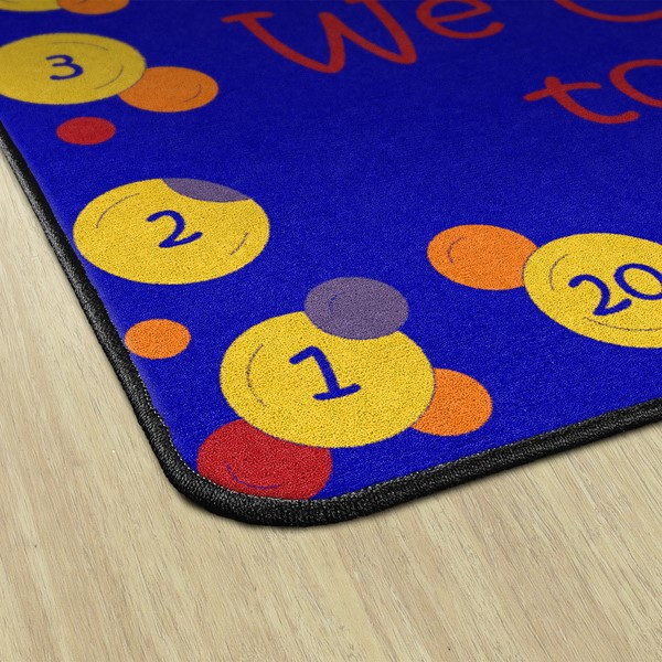 Pop The Bubbles Durable Rug - Square