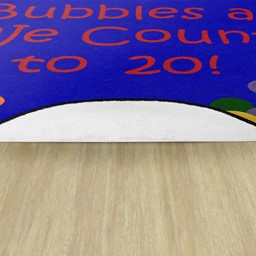 Pop The Bubbles Durable Rug - Backing