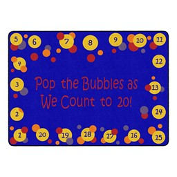 """Pop The Bubbles Durable Rug - Rectangle (6' W x 8' 4"""" L) - Primary"""