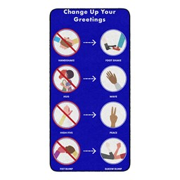 Change Up Your Greetings Durable Rug - Rectangle