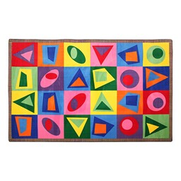 Primary Colors Reading Center - Shake It Up Rug