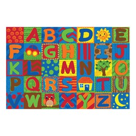 Alphabet Toddler Rug (4\' W x 6\' L)