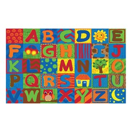"Alphabet Toddler Rug (7\' 6"" W x 12\' L)"