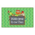 Chevron Fun Rug - Owl Welcome