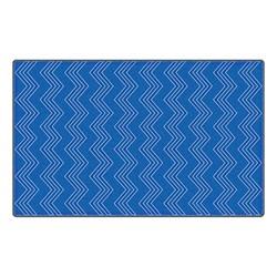 Chevron Fun Rug - Pattern - Blue