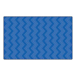 Chevron Fun Rug - Pattern - Blue
