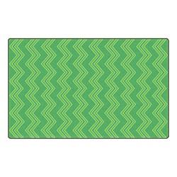 Chevron Fun Rug - Pattern - Green