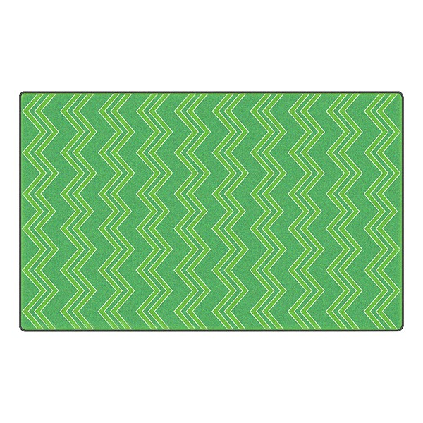 Chevron Fun Rug - Pattern - Green